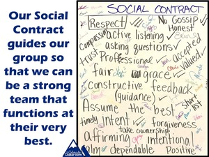 Our Social Contract guides our group so that we can be a strong team that functions at their very best.