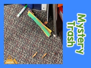 Play mystery trash to clean up the floor in a jiffy.