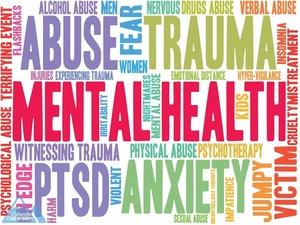 A mental health word cloud