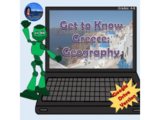 Get to Know Greece Geography Digital Product