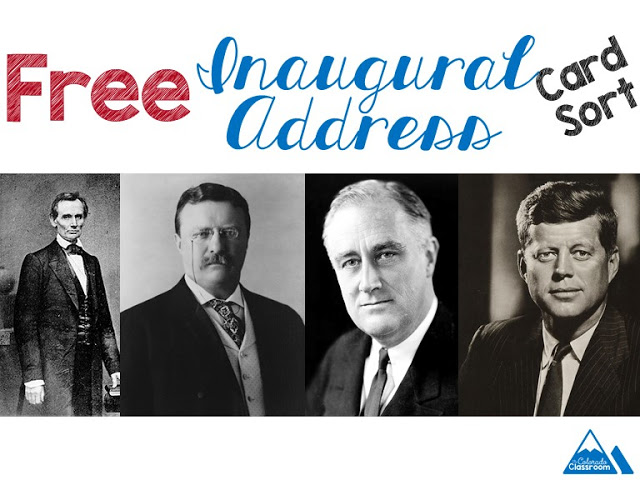 Free Inaugural Address Card Sort for Middle School